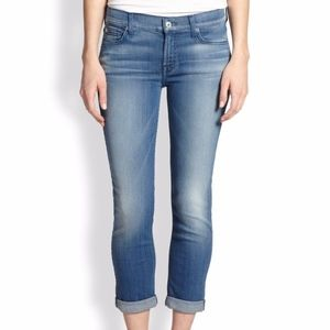 7 For All Mankind 7FAM Skinny Crop & Roll Jeans